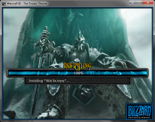 Warcraft 3: The Frozen Throne. Installed. Tonight's going to be funnnnnn!