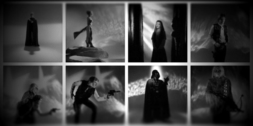 "Previously unpublished Star Wars photos! Looks like they're from Return of the Jedi days. They're lo-res but rather awesome. Jamie Benning posted this photo on Twitter; he says, ""A famous photographer had these photos rejected by LFL but he held on to them."""
