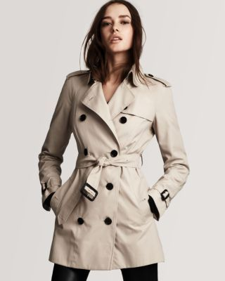 Burberry London Double Breasted Trench Coat.