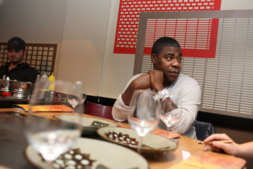 "uncannie:  Tracy Morgan Really, Really Likes the New Benihana [via GrubstreetNY] ""This is my family. These people know me,"" he says. ""This is fancy, man. They cook the food right in front of you. They might go to Pathmark and buy it, but they're gonna cook it. Fancy.""  He says at one point, he was hitting this specific location three or  four times a week. He also says he got a hibachi grill installed at his  house and hires Benihana staffers to host Benihana nights at his house.  It's not surprising, then, that 30 Rock's writers got the idea  for last night's plot line. ""When they put Benihana on the show — all  the writers know that I love this place — that was the greatest  compliment they could show me.""  Tracy Morgan's life is stranger than fiction."
