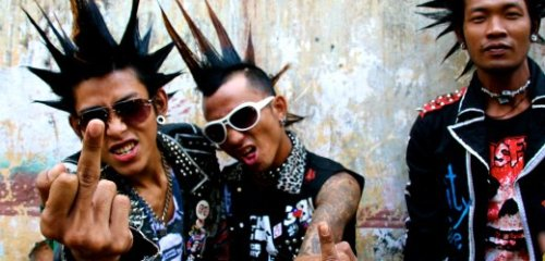 Up the Burma Punx! Great, great Der Spiegel piece on Myanmar's punk rockers and the  military junta's war on them. Worst I had to take as a teenage Chaos UK fan was the occasional beatdown or egg thrown from a moving car; these guys and girls have to deal with much, much worse. Great piece of reporting.