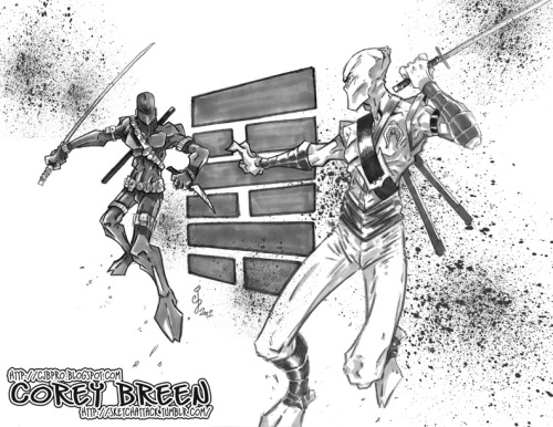 """Ninja Showdown"" by Corey Breen http://cjbpro.blogspot.com"