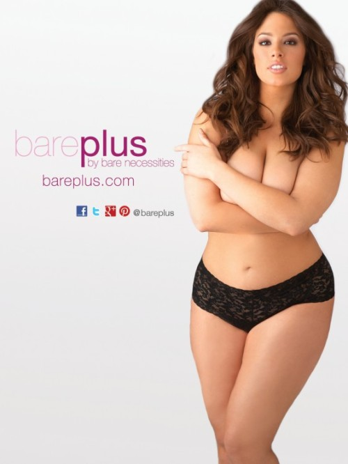 Ashley Graham  36 inch bust, 34 inch waist, 47 inch hips  (via Bare Necessities Launches Plus Size Lingerie Website)