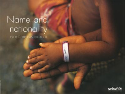 "UNICEF poster cicra 1999 - Part of the ""Convention on the Rights of the Child"" series - 10th Anniversary To learn more please visit: www.unicef.org"
