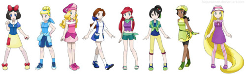 Disney Princess' as Pokemon Trainers.