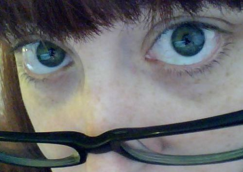 Fr(eye)day. This is my best disapproving librarian expression. I learned it from my mother-in-law who is the best children's librarian ever and saves her most disapproving expressions for the parents.