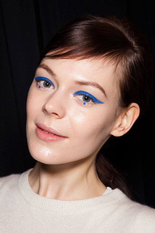 dixias:  Kinga Rajzak backstage at Anna Sui Fall 2012  Anna Sui FW 2012.  The makeup is so amazing.