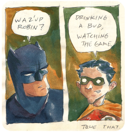 Waz'up Robin? Batman and Robin comic by Fábio Moon :: via fabioandgabriel.blogspot.com