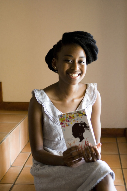 afrikanwomen:  Among the current crop of writers in South Africa, Kopano Matlwa stands uniquely head and shoulders above the rest. This grounded twenty two year old author of provocative novel Coconut about black South African youths' loss of identity in their highly Westernised nation highlights what can happen to African children when they realize that in a world that is black-and-white, life can be cruel when one is not black enough to be black but too black to be white. Matlwa is not only the youngest European Literary Award winner to come out of South Africa but in addition, continues to manage a hectic writer's schedule of book readings, literary fairs et al, with a full-time schedule as a medical student at University of Cape Town. She cites Zimbabwean Tsitsi Dangarembgwa's Nervous Conditions as one of her favourite books. (source: http://www.african-writing.com)
