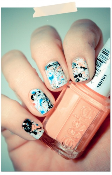 -meridien:  splatter nails
