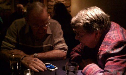 When old souls become tech savvy. My grandparents got an iphone before I did. Some people are lucky enough to comprehend authentic love. They've been personifying it for six+ decades.