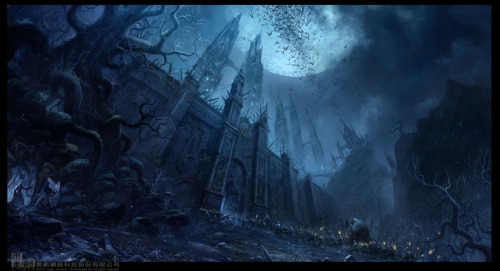 yavanna83:  Chateau of Dark Moon by ~ChaoyuanXu