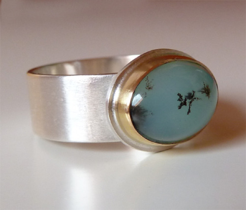 raeandco:  blue peruvian opal ring by rae and co on etsy.