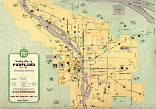 Trolly map of Portland