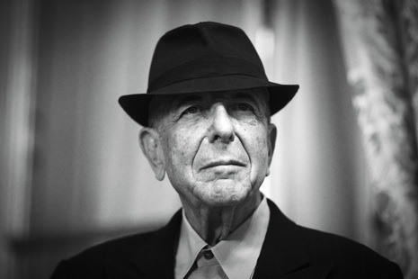 "newyorker:  Leonard Cohen's Zen Sensuality  ""Going Home,"" the first song on Leonard Cohen's new album, ""Old Ideas,"" comes from the perspective  of his inner self, or, as Cohen—who lived for five years in a Zen  monastery—might call it, his Buddha nature. It is this spiritual Higher  Leonard who is looking forward to ""going home without my burden, going  home behind the curtain, going home without the costume that I wore"" as  he moves through the latter decades of his life. That costume is the  Earthly Leonard, in his suit and fedora, ""who knows he's really nothing  but the brief elaboration of a tube."" It is Higher Leonard, we  learn—without surprise—who is the craftsman and seer behind Cohen's  twelve mostly brilliant studio albums: Earthly Leonard ""only has  permission / to do my instant bidding / which is to say what I have told  him to repeat.""  - Ariel Levy writes about Higher Leonard and Earthly Leonard:    http://nyr.kr/z0AS5h  Photograph by Joel Saget/AFP/Getty."