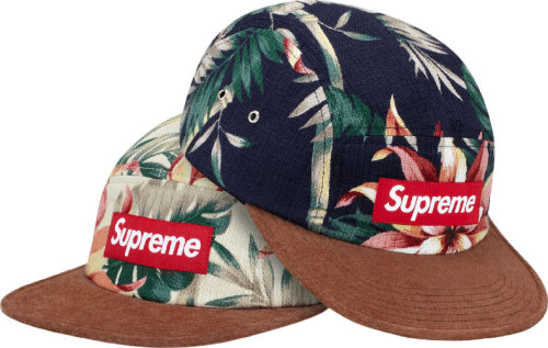 Supreme - floral suede camp cap 2012 collection