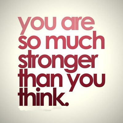 "It's true. You are much stronger than you think. Fortunately I get to see this inspirational fact in action every day at Strala, especially in our STRONG classes. It's very exciting to be able to do something that you didn't think you could do, which is good reinforcement that we are, in fact, stronger than we often think. Good old Stuart Smalley had us all at, ""I'm good enough, smart enough, and doggone it, people like me!"" in his famous ""Saturday Night Live"" sketch.  We all love it because we all know it's true, and we all need the reminder.  It's true that we're not really afraid of failure — we know what that looks like — but we're really afraid of success. Success is completely unscripted, unknown, and can be crazy scary.  But when you come to learn how to be okay with the unknown, and actually excited by the unknown, success is a possibility. The more comfortable you are with not knowing and the more excited you are about possibilities, the more room for success you create.   Now, of course there is a lot of work to do to achieve your goals, but often we have to get over the tricky little trickster that is the mind, trying to tease us and convince us that what we are trying to do is impossible.  If you believe it, it is true for you. Once you're able to get past the tricks of the mind, you can begin to engage the mind to actually do something useful for you — which is to observe. In order to really grow in the direction of success, you need to be able to observe yourself.  This is meditation, yoga, and successful living.   If you are a person that gives up easily, you should get to know that part of yourself so you can face it and change it. If you are a person who forces their way through to the other side, burning fumes everywhere with steam coming out of your ears, you should get to know that part of yourself so you can find some efficiency. If you analyze and judge everything about yourself constantly, you are probably doing the same of everyone else and holding yourself back in so many ways. Get to know that part of yourself so you can change. You are so much stronger than you think. Get used to it. Do something about it. —Tara Stiles, Yoga & wellness expert Image credit: IloveyouXXXXXXX.tumblr.com"