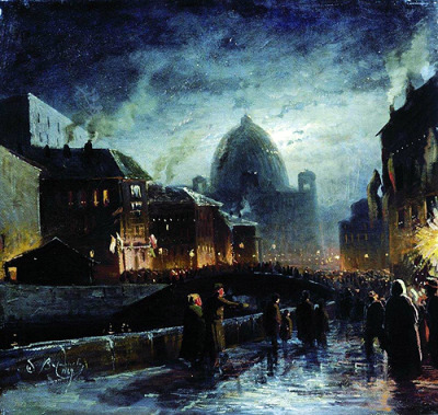 Fyodor Vasilyev | Illumination in St. Petersburg, 1869