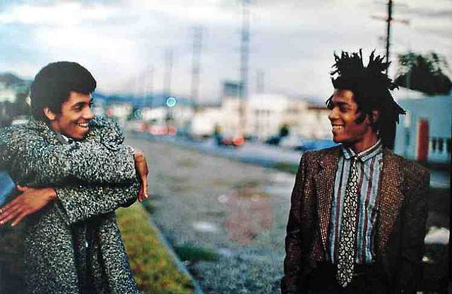 Jean-Michel Basquiat with Rammellzee, photo by Stephen Torton