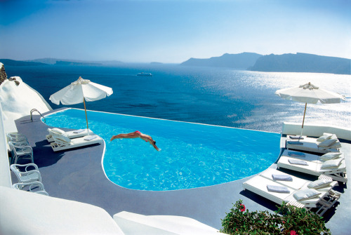 in my mind i'm here today.   Katikies Hotel, Santorini, Greece