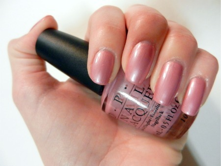 letsgetlacquered:  Nail of the Day! OPI- Aphrodite's Pink Nightie Completely forgot I hadn't done a blog post on this color. :) I adore this color, and the name too! I feel like the name matches the color pretty well. This is a gorgeous pink shade with subtle shimmer to it. that I feel would look good on most skin tones. For some reason I'm always drawn to pinks!  If you are looking for a classic color that will probably never get old this is the color for you!