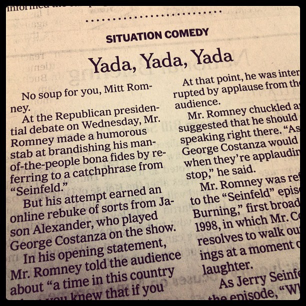 devancoggan:  Best New York Times lead ever? I think so. via Instagram.