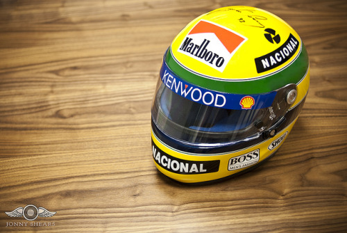 Ayrton Senna's Genuine Race Used & Signed Helmet on Flickr.Personal Image: A more relaxed shot of Ayrton Senna's Genuine Race Used & Signed Helmet. It was a privilege to photograph the helmet once worn and raced in by the arguably the greatest racing driver of all time. This is possibly one of the most iconic and historically important automobilia items in motorsport. Up for auction with silverstone auctions: www.silverstoneauctions.com/ayrton-senna-race-used-crash-…Click to Join My Facebook Fan PageView My Website by Clicking Here