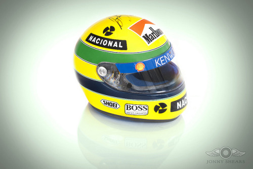 Ayrton Senna's Genuine Race Used & Signed Helmet on Flickr.Personal Image:  Ayrton Senna's Genuine Race Used & Signed Helmet. It was a privilege to photograph the helmet once worn and raced in by the arguably the greatest racing driver of all time. This is possibly one of the most iconic and historically important automobilia items in motorsport. Up for auction with silverstone auctions: www.silverstoneauctions.com/ayrton-senna-race-used-crash-…Click to Join My Facebook Fan PageView My Website by Clicking Here