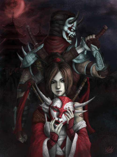 windinthesails:  Blood moon by ~Penator