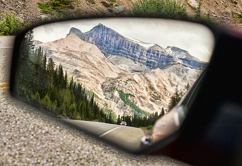 ssorayah:  Rearview Mirror Magic - Icefields Parkway (by Jeff Clow)