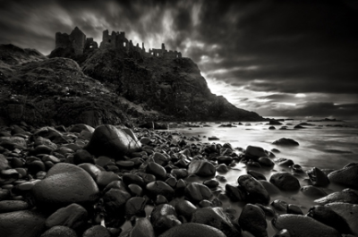 Dunluce Castle at Twilight by Gary McParland (via 15 Mysterious and Surreal Castle Photos)