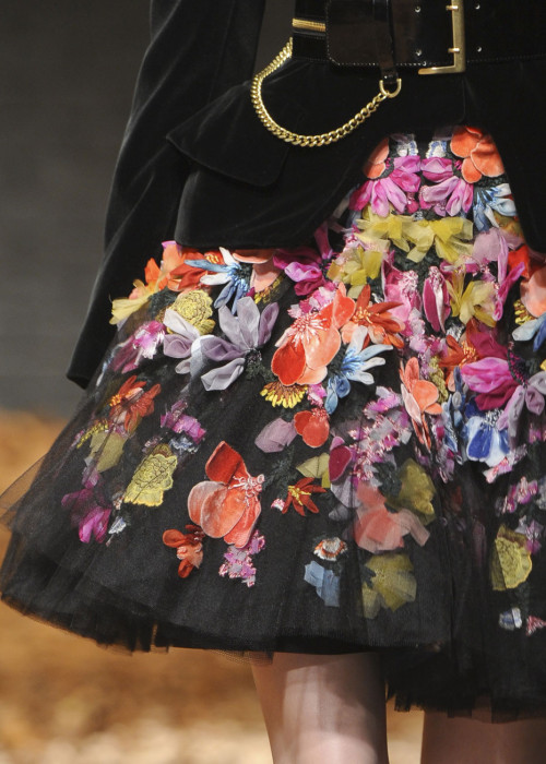 detail of McQ Alexander McQueen fw12 by Sarah Burton London Fashion Week feb 2012 stylist Camilla Nickerson