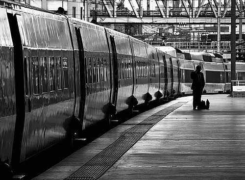 blackandwhite:  Gare du Nord (by Gregory Bastien)