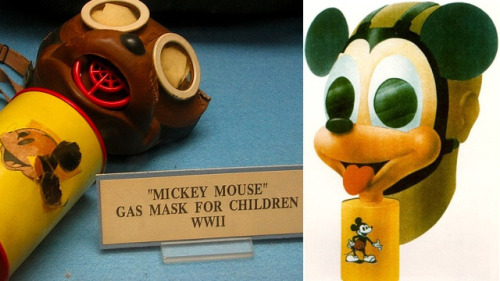 kscottbradbury:  Behold, the Mickey Mouse gas mask from World War II