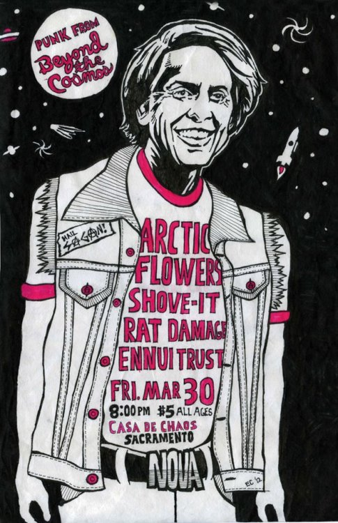 Arctic Flowers Shove-It Rat Damage Ennui Trust March 30 Sacramento CA