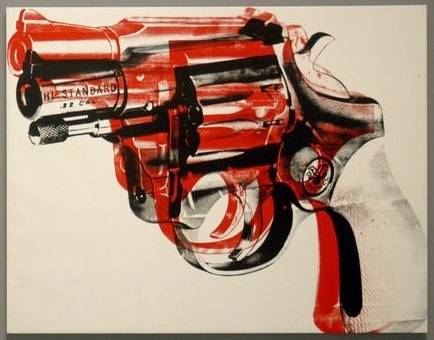 'Gun' by Andy Warhol (1981-82).