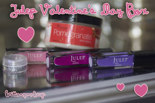 brittanykramer:  wanna see more of my valentine's day box from julep? come to my new blog! http://www.brittanymakeup.com :)  Check out m girlfriend, Brittany's blog.