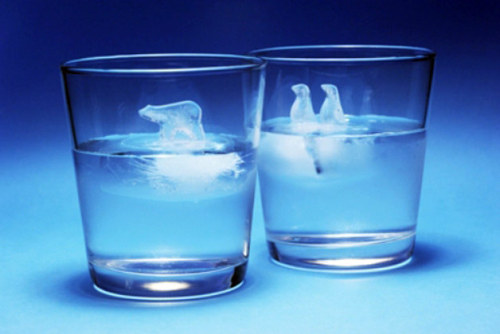 Check out these cool ice cubes shaped like polar bears and penguins on ice floes — an artistic reminder of climate change as you sip a chilled beverage on a warm day. Read more at Inhabitat.