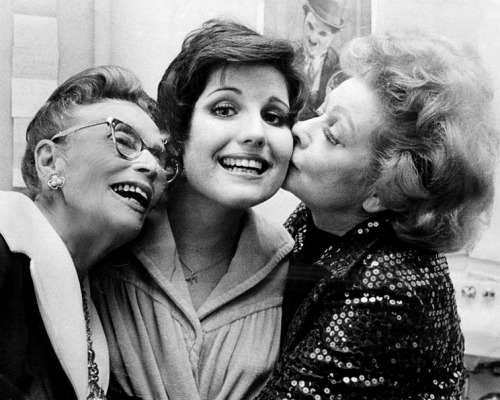 Lucille Ball photographed with her mother DeDe and her daughter Lucie Arnaz in the 1970s