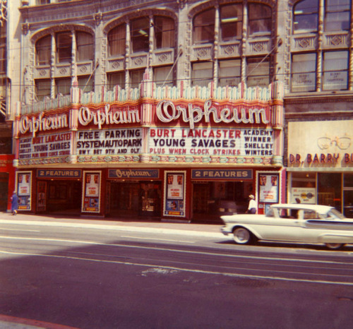 The Orpheum Theatre in downtown Los Angeles, California - 1961