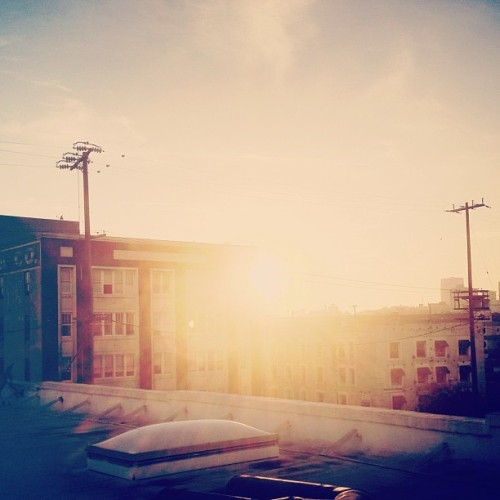 #sunset #lensflare #dtla (Taken with Instagram at Innovation Protocol)