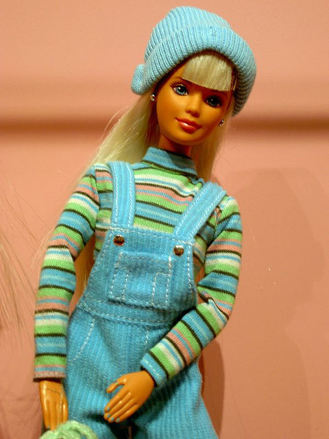 childhood-nostalgia:  Omgomg, my best friend had this exact barbie, was this a Teen Skipper doll?  No this was part of a set of three I think. There was a pink and purple one too. I had this one and the purple!