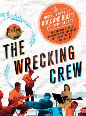 "BOOK REPORT: THE WRECKING CREW by KENT HARTMAN You may not know who The Wrecking Crew were… but you know their work, and a ton of the tunes they played on. Kent Hartman's new biography attempts to tell the tale of the loose confederacy of L.A.-based musicians who played on the masterpiece recordings of modern music produced by the likes of Phil Spector, Brian Wilson, and many others. The book just came out last week, and its timing is intriguing - various members of the group have been in the news lately: Glen Campbell, who left the studio to strike out on his solo career, and was recently honored at the Grammys Mike Melvoin, keyboardist and arranger, just passed away this week. His son was Jonathan Melvoin, the Smashing Pumpkins member who died from a heroin overdose. Mike played on tunes as varied as the Beach Boys' Pet Sounds and Frank Sinatra's That's Life.  Today's news brings word that Billy Strange also passed away. Billy was a phenomenal guitar player known for his work on Nancy Sinatra's ""Bang Bang (My Baby Shot Me Down)"", and as co-writer of Elvis' ""A Little Less Conversation"" The Wrecking Crew book has one inherent flaw due to the nature of its subject: nobody really knew who all the members were. It wasn't a formal group, more of a nickname for a group of players who began to find themselves in demand for more and more recording sessions in Los Angeles. The list of song titles at the bottom of this post are the chapters of the book, and are a great indicator of how varied the tunes they played on. The forementioned flaw means the book doesn't go too far in depth on a lot of people. What it lacks in depth, though, it makes up for in an astonishing amount of fantastic rock and roll stories. Some of the highlights for me were: learning about Creed Bratton (as in Creed from ""The Office"") and his time spent playing in The Grass Roots, including a hilarious story about a gig at the Fillmore West. The terribly sad tale of drummer extraordinaire Jim Gordon, whose piano coda for Layla is simply one of the most gorgeous pieces of music ever written. The late Billy Strange has a great story told about how a piece he composed entitled Monotonous Melody became the dance craze known as Limbo Rock. If you're looking for a rock book that will shock you with how much you didn't know about the music you love, get The Wrecking Crew. It'll learn you about a slew of the greatest musicians you've already heard… but maybe not heard of. Footnotes: chapters in The Wrecking Crew are song titles they played on… California Dreamin' Limbo Rock He's A Rebel The Little Old Lady (from Pasadena) What'd I Say I Got You, Babe Mr. Tambourine Man River Deep, Mountain High Eve of Destruction Strangers in the Night Good Vibrations Let's Live for Today Up, Up and Away Classical Gas Wichita Lineman MacArthur Park Bridge Over Troubled Water (They Long To Be) Close To You Love Will Keep Us Together"