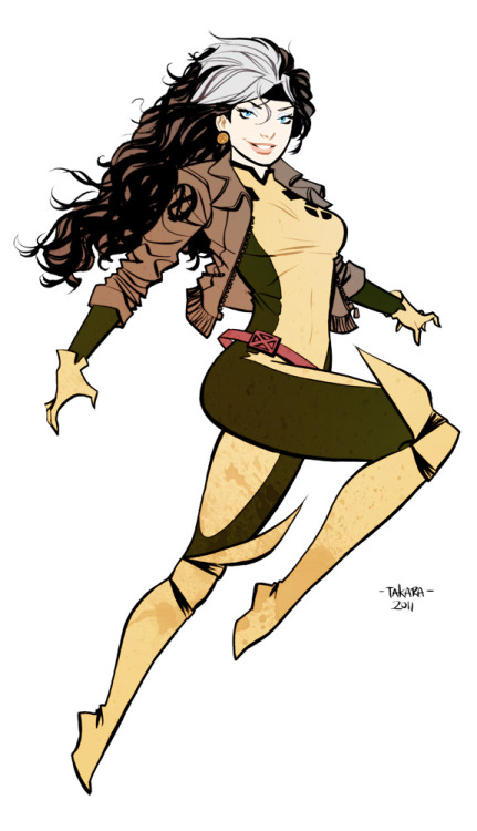 capes-tights-claws-shields:  Rogue - color 2011 by *marciotakara
