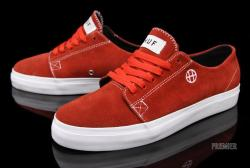 HUF Morton Sneakers in red