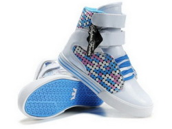 Women's Supra Society Custom Grey & Blue
