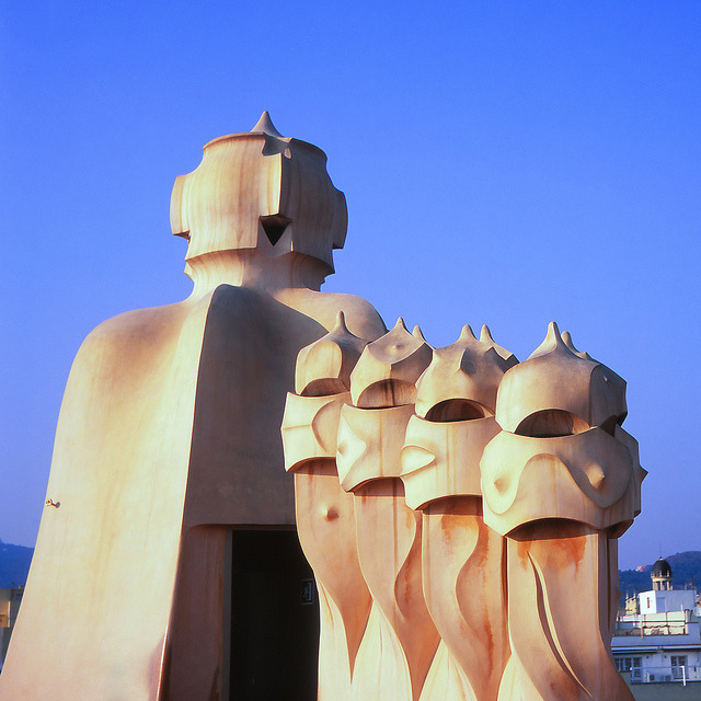 Casa Milà on Flickr.Via Flickr: La Pedrera, Barcelona.  Rolleiflex T | Fuji Velvia