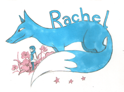 A birthday card for my wonderful friend Rachel! I like how it came out so im postin' in here