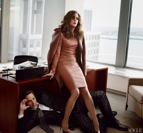 -saturdaynightlive:  Kristen Wiig and Seth Meyers | Vogue