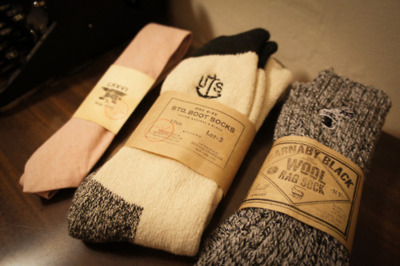Barnaby Black Wool Rag Socks and CXXVI Clothing Co. Red Chambray Tie. Quality Products.